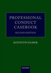 Book Professional Conduct Casebook by Kenneth Hamer