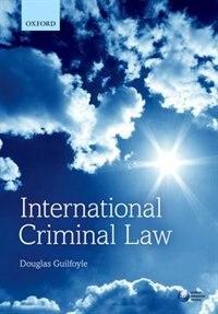 Book International Criminal Law by Douglas Guilfoyle