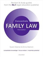 Family Law Concentrate: Law Revision and Study Guide