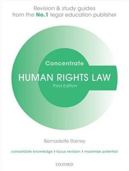 Book Human Rights Law Concentrate: Law Revision and Study Guide by Bernadette Rainey