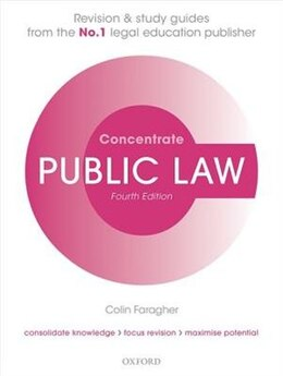Book Public Law Concentrate: Law Revision and Study Guide by Colin Faragher