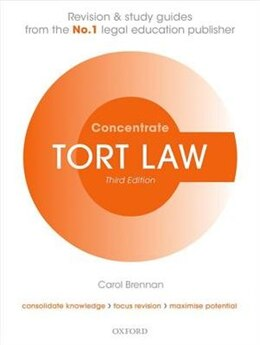 Book Tort Law Concentrate: Law Revision and Study Guide by Carol Brennan