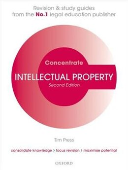 Book Intellectual Property Law Concentrate: Law Revision and Study Guide by Tim Press