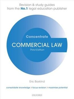 Book Commercial Law Concentrate: Law Revision and Study Guide by Eric Baskind
