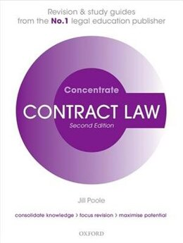 Book Contract Law Concentrate: Law Revision and Study Guide by Jill Poole
