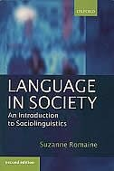 Book Language in Society: An Introduction to Sociolinguistics by Suzanne Romaine