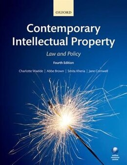 Book Contemporary Intellectual Property: Law and Policy by Charlotte Waelde