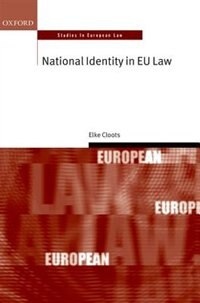Book National Identity in EU Law by Elke Cloots