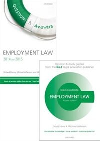 Book Employment Law Revision Pack 2014: Law revision and study guide by David Lewis