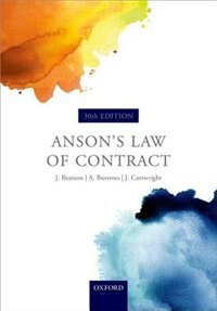 Book Ansons Law of Contract by Jack Beatson