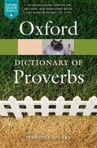 Book The Oxford Dictionary of Proverbs by Jennifer Speake