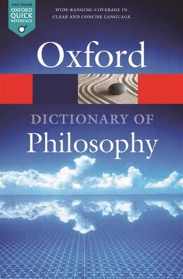 Book The Oxford Dictionary of Philosophy by Simon Blackburn