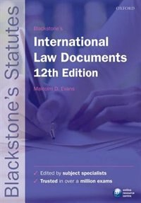 Book Blackstones International Law Documents by Malcolm Evans