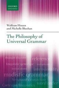 Book The Philosophy of Universal Grammar by Wolfram Hinzen