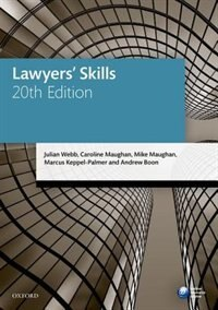 Book Lawyers Skills by Julian Webb