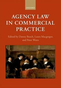 Book Agency Law in Commercial Practice by Danny Busch