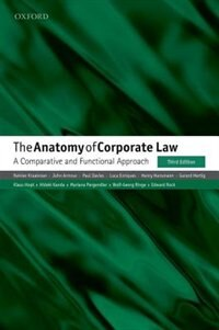 Book The Anatomy of Corporate Law: A Comparative and Functional Approach by Reinier Kraakman