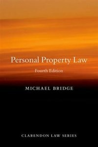 Book Personal Property Law by Michael Bridge