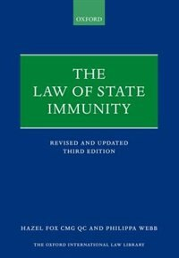 Book The Law of State Immunity by Hazel Fox