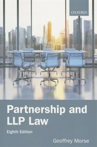 Book Partnership and LLP Law 8e by Geoffrey Morse