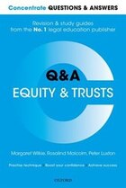 Concentrate Questions and Answers Equity and Trusts: Law QandA Revision and Study Guide