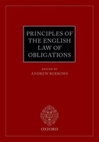 Book Principles of the English Law of Obligations by Andrew Burrows