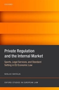 Book Private Regulation and the Internal Market: Sports, Legal Services, and Standard Setting in EU… by Mislav Mataija
