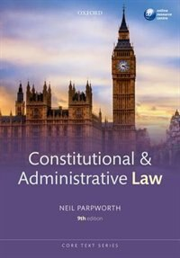 Book Constitutional and Administrative Law by Neil Parpworth