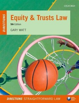 Book Equity and Trusts Law Directions by Gary Watt