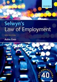 Book Selwyns Law of Employment by Astra Emir