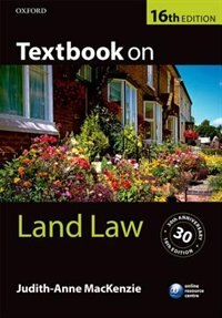 Book Textbook on Land Law by Judith-Anne MacKenzie