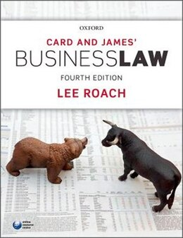 Book Card and James Business Law by Lee Roach