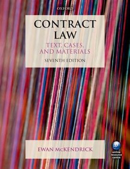Book Contract Law: Text, Cases and Materials by Ewan Mckendrick