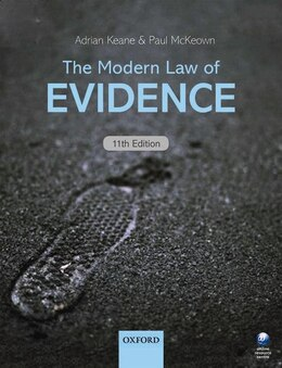 Book The Modern Law of Evidence by Adrian Keane