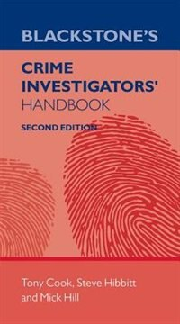 Book Blackstones Crime Investigators Handbook by Tony Cook
