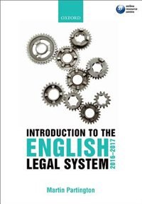 Book Introduction to the English Legal System 2016-2017 by Martin Partington