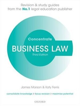 Book Business Law Concentrate: Law Revision and Study Guide by James Marson