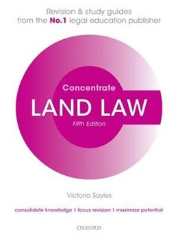 Book Land Law Concentrate: Law Revision and Study Guide by Victoria Sayles