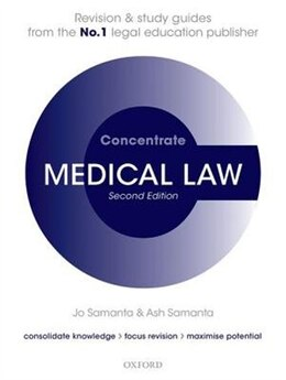Book Medical Law Concentrate: Law Revision and Study Guide by Jo Samanta