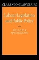 Book Labour Legislation and Public Policy: A Contemporary History by Paul Davies