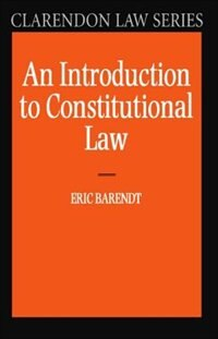 Book An Introduction to Constitutional Law by Eric Barendt