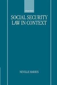 Book Social Security Law in Context by Neville Harris