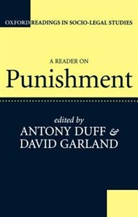 Book A Reader on Punishment by R. A. Duff