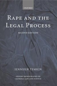 Book Rape and the Legal Process by Jennifer Temkin