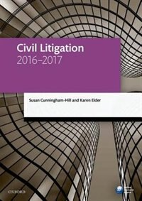 Book Civil Litigation 2016-2017 by Susan Cunningham-Hill