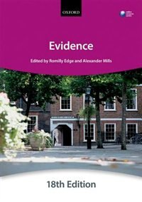 Book Evidence by The City Law School