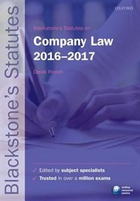 Book Blackstones Statutes on Company Law 2016-2017 by Derek French