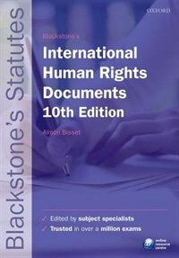 Book Blackstones International Human Rights Documents by Alison Bisset