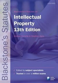 Book Blackstones Statutes on Intellectual Property by Andrew Christie