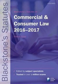 Book Blackstones Statutes on Commercial and Consumer Law 2016-2017 by Francis Rose